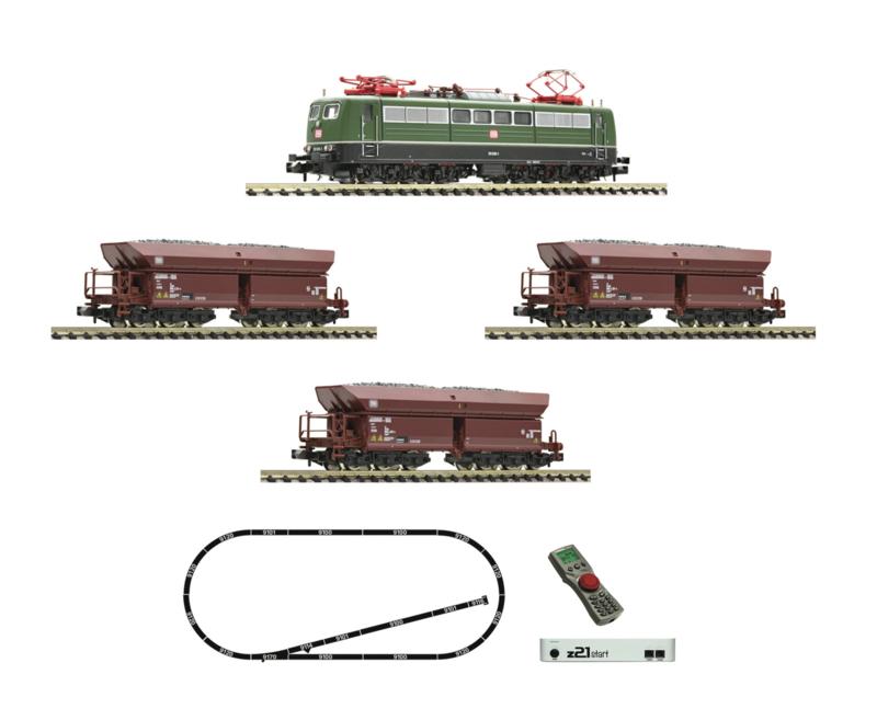 N | Fleischmann 931896 -DB, z21 start digitale set: elektrische locomotief br 151 en goederen trein