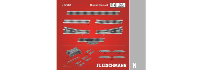 N   Fleischmann 919084 - Railset Ü2 (DCC digitaal)