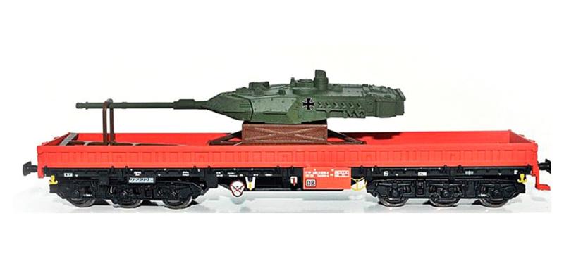H0 | NPE 22135 - DB AG, Samms-u 454, with gun turret.