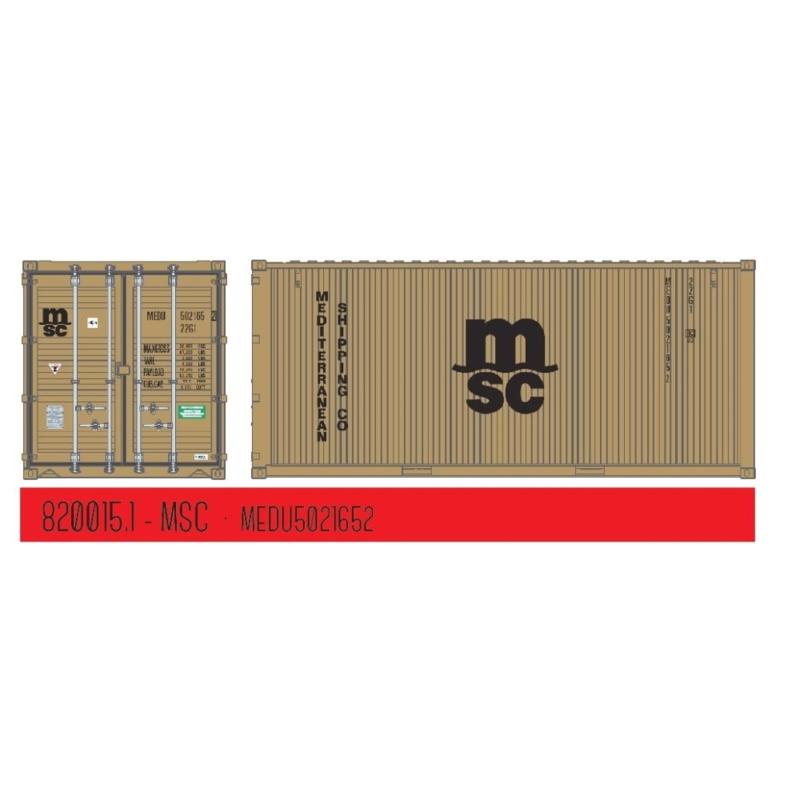 "H0 | PT Trains 820015.1 - 20ft. Container ""MSC"" Eco"