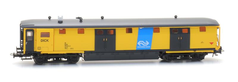 H0 | Artitec 20.249.05 - Ongevallenwagen NS 511-0, geel, Dick, NS-logo, depot Zwolle,