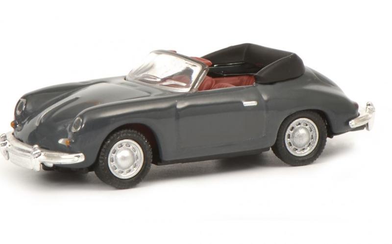 H0 | Schuco 26442 - Porsche 356 Cabrio grijs