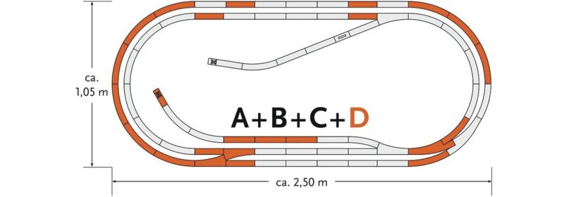 H0 | Roco 61103 - Track set D