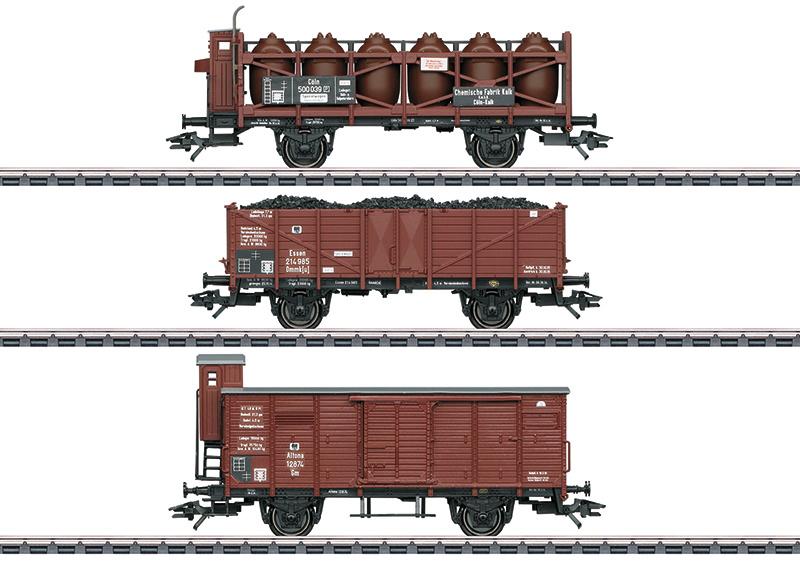 H0 | Märkln 46394 - K.P.E.V. , set goederenwagens