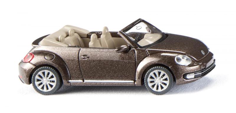 H0   Wiking 002802 - VW The Beetle cabriolet toffee brown met.(1)