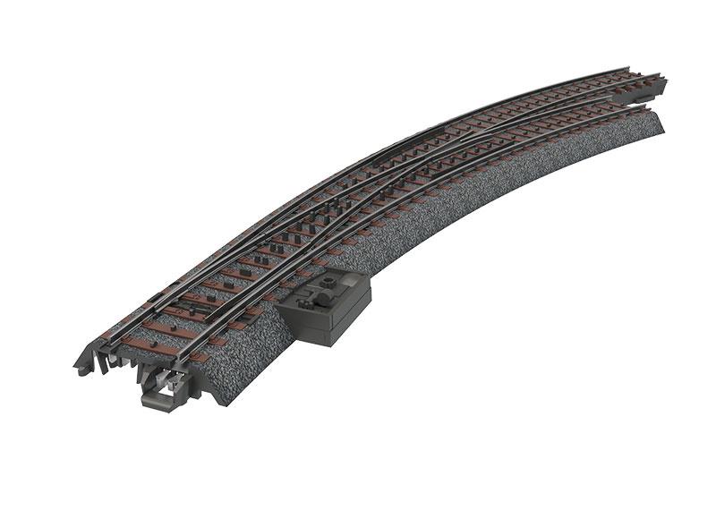 H0 | Märklin 24772 - Bochtwissel slank rechts R515 mm - 30Gr (C-rail)
