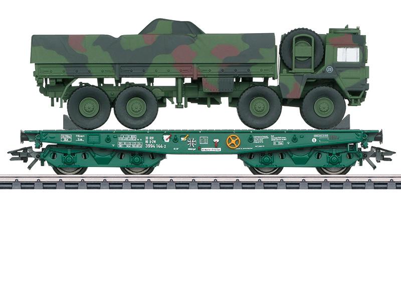 H0   Märklin 48875 - DB AG, Platte wagen voor zware belasting Rlmmps