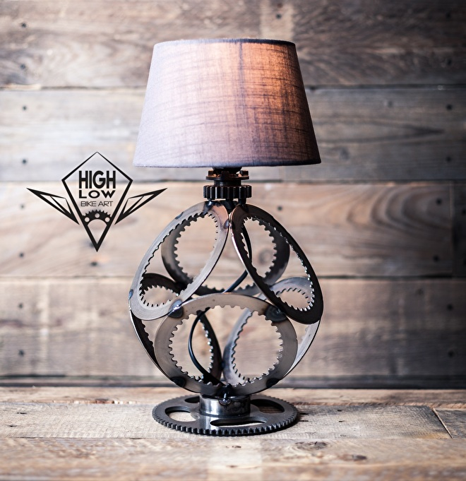 Handmade Industriele Verlichting - Unieke Stoere Vintage Lamp - Staal Hout - Motolifystyle
