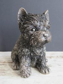 asbeeldje/urn Yorkshire Terriër puppy