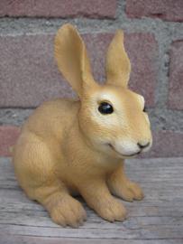 beeldje konijn bruin