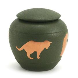urn Kat silhouette groen