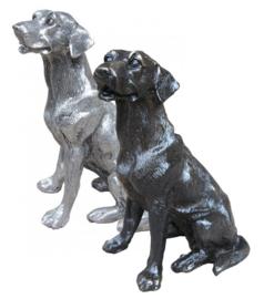 beeldje Labrador zilvertin