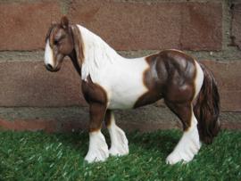 beeldje paard Cob bruin-wit | 16,5 cm