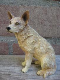 beeldje Australian Cattledog rood