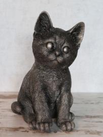 asbeeldje/kattenurn Kat zittend klein