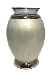 urn met gedenklicht wit
