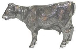 beeldje Koe zilvertin