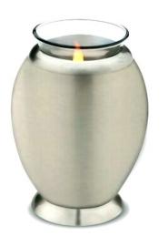 urn met gedenklicht zilver