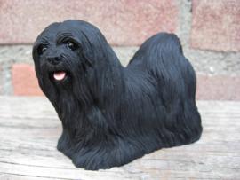 beeldje Lhasa Apso zwart