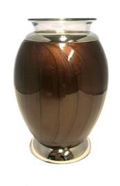 urn met gedenklicht donkerbruin