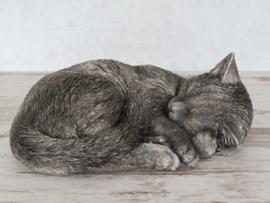 asbeeld/kattenurn Kat slapend | 26 cm