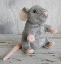 pluchen muis grijs