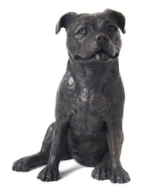 asbeeld/urn Staffordshire Bull Terriër | 30 cm