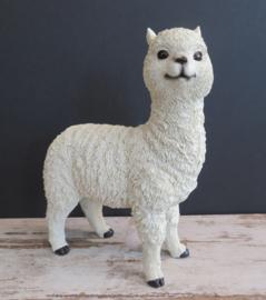 beeldje Alpaca wit