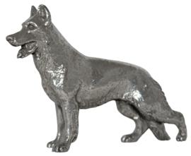 beeldje Herder zilvertin