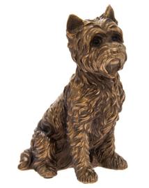 beeldje Yorkshire Terriër bronskleur