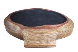 houten plateau voor katten- of konijnenurn