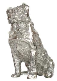 beeldje Mopshond zilvertin