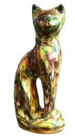 kattenurn zittende kat regenboog