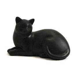 kattenurn liggende kat zwart