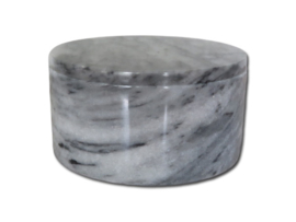 marmeren urn 'Grey Cloud' rond