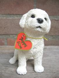 beeldje Bichon Frise puppy