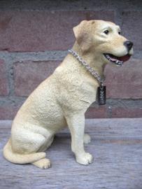 beeldje Labrador blond met bal