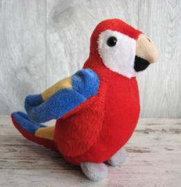 pluchen papegaai rood