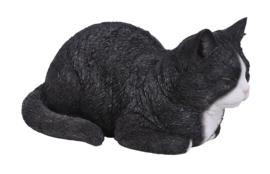beeld/asbeeld/urn Kat dromend zwart-wit