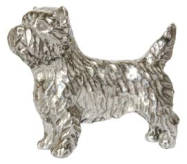 miniatuur Cairn Terriër zilvertin