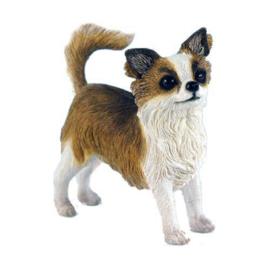 beeldje Chihuahua langhaar staand