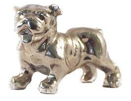 beeldje Engelse Bulldog zilvertin