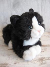 pluchen kat zwart-wit