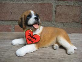 beeldje Sint Bernardhond puppy