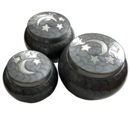 urn 'Maan en sterren' grijs