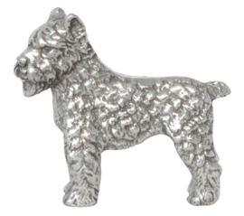 beeldje Bouvier zilvertin