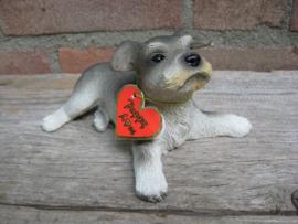 beeldje Schnauzer puppy