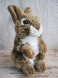 pluchen konijn bruin-wit