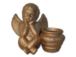 waxinehouder Engel goud