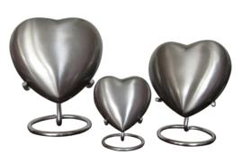 urn Heart zilver